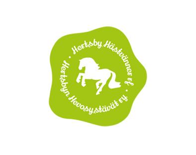 Hertsbyn hevosystävät ry:n logo.