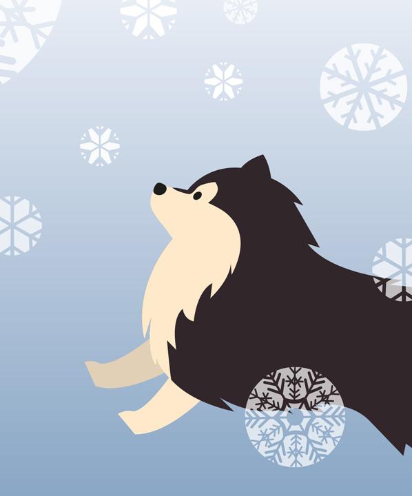 Kennelliiton joulutervehdys -animaatio.