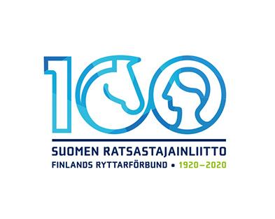 SRL 100 vuotta juhlalogo