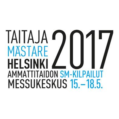 Taitaja2017 Helsinki -tapahtuman logo laajennetuilla tiedoilla.