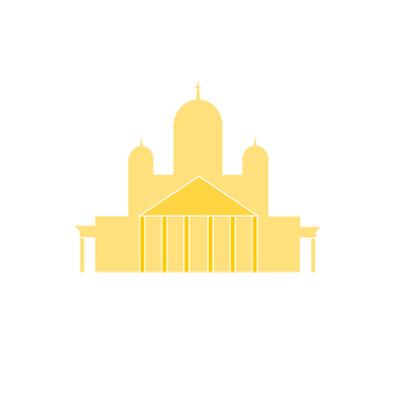 Taitaja2017 Helsinki -tapahtuman maamerkki-ikoni: tuomiokirkko.