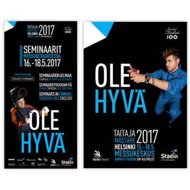 Taitaja2017 Helsinki -tapahtuman seminaariflyer ja yleisesitteen kansi..