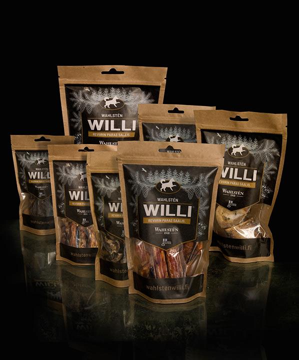 Willi pakkaukset, kuivatut purtavat.