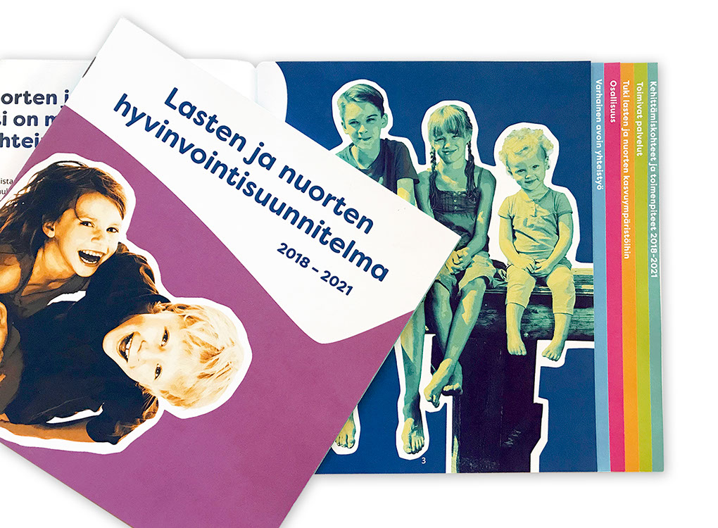 Nurmijärven kunnan lasten ja nuorten hyvinvointisuunnitelma, esite.