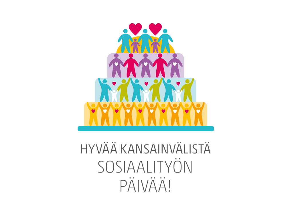 Kansainvälisen Sosiaalityön päivän logo.