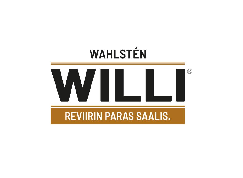 Wahlsten Willi -logo ja slogan.