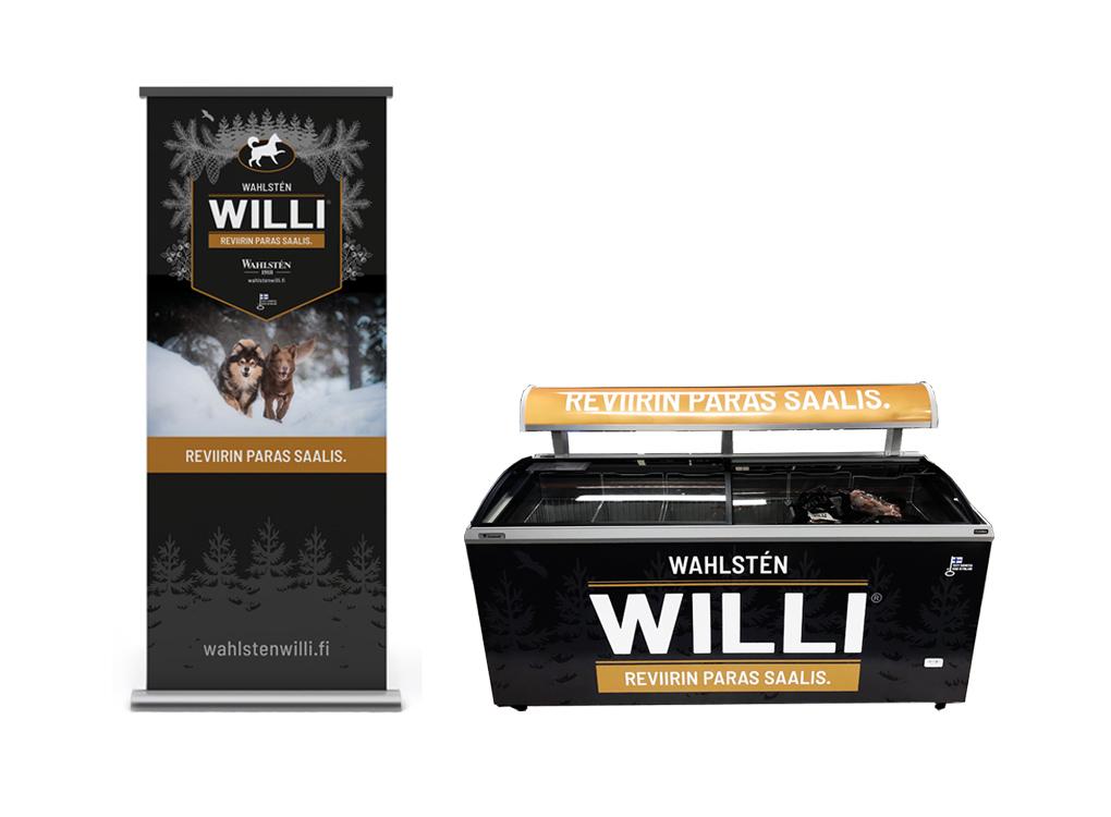 Willi roll-up ja pakastinteippaukset.