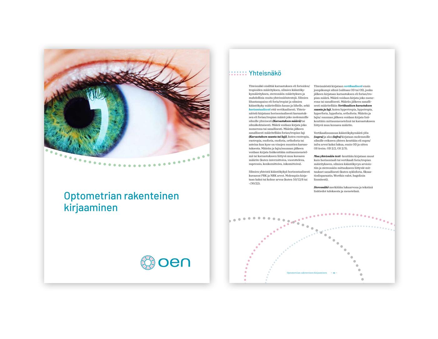 Optometrian eettisen neuvoston julkaisujen ilme.