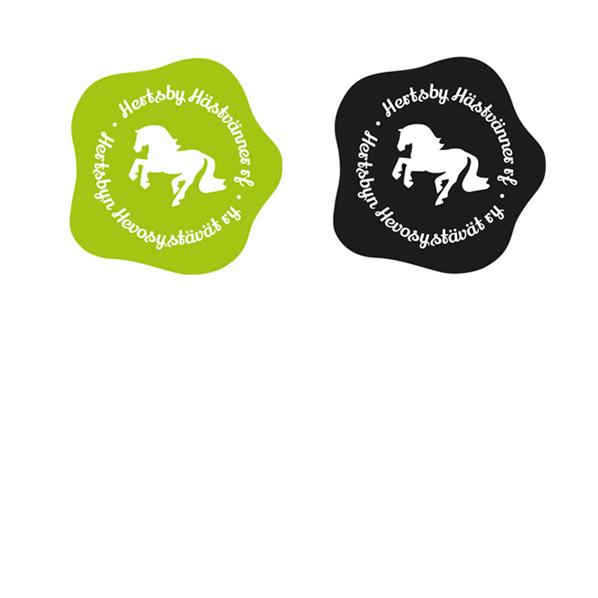 Ratsastusseura Herstsbyn hevosystävät ry:n logo.